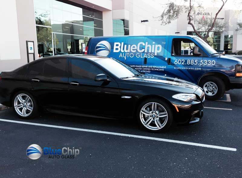 Blue Chip Auto Glass Service Truck
